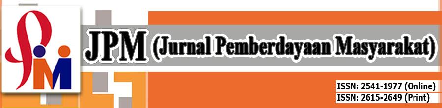 [ JPM ]     Jurnal Pemberdayaan Masyarakat