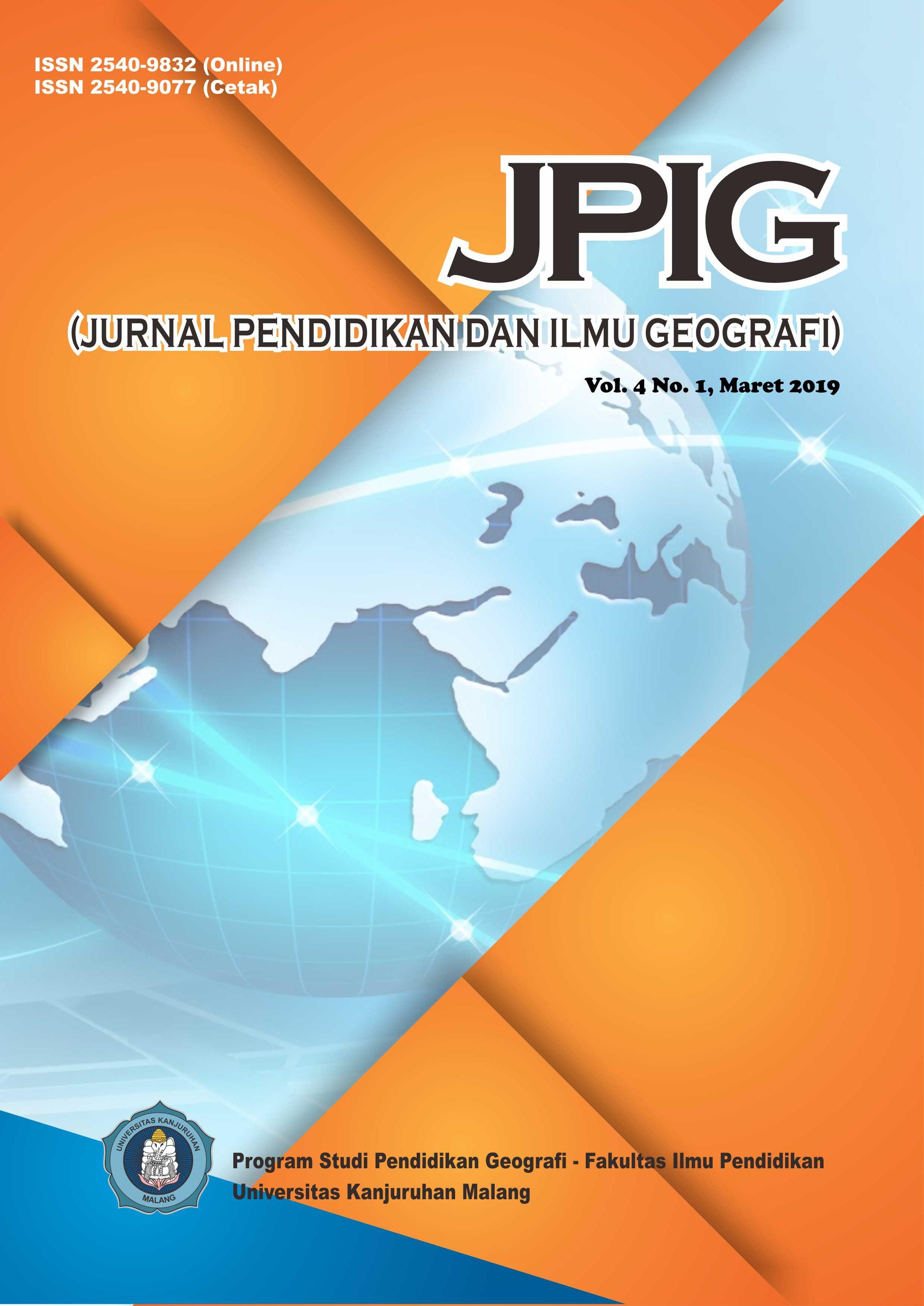 Jpig Jurnal Pendidikan Dan Ilmu Geografi